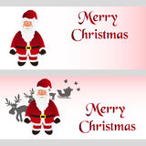 Mery christmas with cartoon Santa Claus greeting cards eps10 Stock Photo