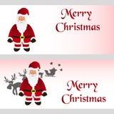 Mery christmas with cartoon Santa Claus greeting cards eps10. Mery christmas with cartoon Santa Claus greeting cards Stock Photo