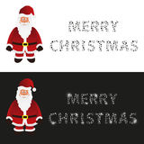 Mery christmas with cartoon Santa Claus greeting cards eps10 Royalty Free Stock Photo