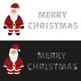 Mery christmas with cartoon Santa Claus greeting cards eps10. Mery christmas with cartoon Santa Claus greeting cards Royalty Free Stock Photo