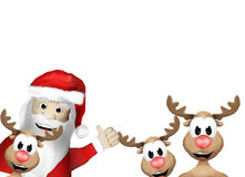 Mery Christmas Faces heureuse Photos stock