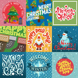 Mery Christmas greeting card design Royalty Free Stock Photos