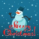 Mery Christmas greeting card design Stock Photos