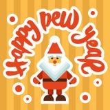 Mery Christmas greeting card design Royalty Free Stock Image