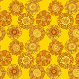 Merygold flower seamless pattern. Stock Photography