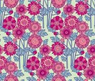 Merygold flower seamless pattern. Royalty Free Stock Photo
