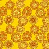 Merygold kwiatu bezszwowy wzór Fotografia Stock