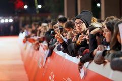 Meryl Streep fans on the red carpet Stock Photos