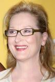 Meryl Streep llega la ciudad del acontecimiento de Bob Pittman de los honores de la música de la esperanza y del grupo de la indus foto de archivo