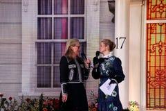 Meryl Streep in Mary Poppins keert première in Londen terug stock foto's