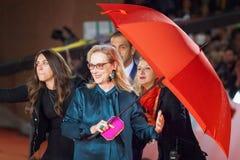 Meryl Streep op rood tapijt Stock Fotografie