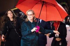 Meryl Streep på röd matta Arkivfoto
