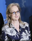 Meryl Streep s'occupe de la séance photo de fortune internationale Photographie stock libre de droits