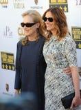Meryl Streep y Julia Roberts fotografía de archivo libre de regalías