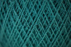 Merynosowa przędza w cyraneczka koloru tekstury wzorze Zdjęcie Stock