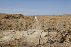 Merzenich - выкопанный вверх ландшафт около opencast шахты Hambach Стоковые Изображения RF