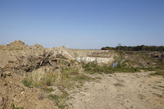 Merzenich - desenterrado paisaje cerca de la mina a cielo abierto Hambach Imágenes de archivo libres de regalías