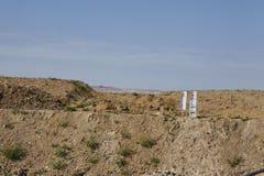 Merzenich - grävt upp landskap nära den dagbrotts- minen Hambach Royaltyfri Fotografi
