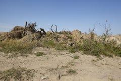 Merzenich - Opgegraven landschap dichtbij bovengrondse mijn Hambach Stock Foto's