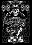 Merzi one. Image illustration a BIKER COMMUNITY for idea PATCH and Tee Shirt, clothing, apparel bikers design Stock Image