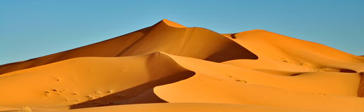 Merzouga沙漠在摩洛哥 免版税图库摄影