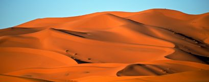 Merzouga沙漠 免版税库存图片