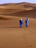 On the merzouga desert Royalty Free Stock Image