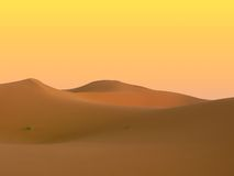 Merzouga dunes. A view on some of morocco's dunes in the erg chebbi Royalty Free Stock Photos