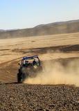 Merzouga, Maroc - 25 février 2016 : Étoile polaire bleue RZR 800 dans le désert du Maroc près de Merzouga Merzouga est un petit v Images stock