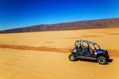 Merzouga, Maroc - 22 février 2016 : étoile polaire bleue RZR 800 sans p Photographie stock