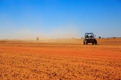 Merzouga, Morocco - Feb 23, 2016: Side view on blue Polaris RZR Stock Image
