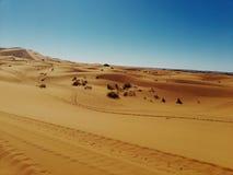Merzouga& x27; s Woestijn stock afbeelding