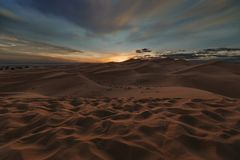 Merzouga Sunset 1 stock image