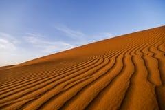 Merzuga沙漠线 免版税库存图片