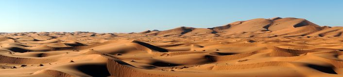 Sand dunes in Sahara Royalty Free Stock Photos