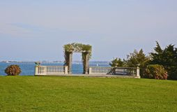 Mesón Newport RI de la colina del castillo del enrejado de la boda Fotografía de archivo libre de regalías
