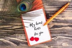 Mes battements de coeur pour vous Photographie stock