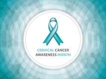 Mes de la conciencia del cáncer de cuello del útero Fotografía de archivo libre de regalías