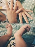 Mes doigts et mes orteils photos stock