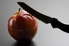 Mes en Apple Stock Afbeelding