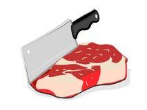 Mes en vlees Stock Afbeeldingen