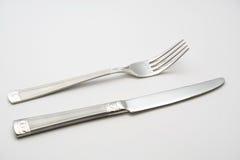 Mes en vork Stock Afbeelding