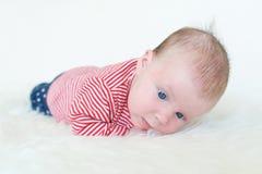 1 mes preciosos de bebé Fotos de archivo libres de regalías
