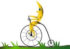 Mes que monta una bici Fotografía de archivo
