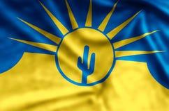 Mesa亚利桑那五颜六色的挥动和特写镜头旗子例证 库存例证