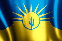 Mesa亚利桑那五颜六色的挥动和特写镜头旗子例证 皇族释放例证