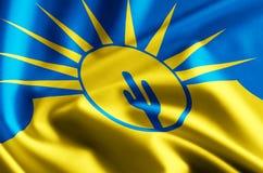 Mesa亚利桑那旗子例证 库存例证