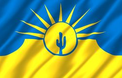 Mesa亚利桑那现实旗子例证 皇族释放例证