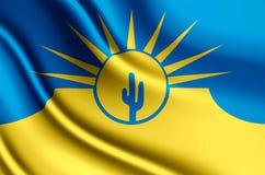 Mesa亚利桑那现实旗子例证 库存例证