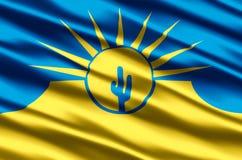 Mesa亚利桑那现实旗子例证 向量例证